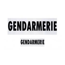 Jeu de bandeaux Gendarmerie pour housse de GPB