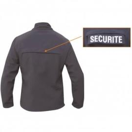 Blouson sécurité noir softshell 3 couches dintex