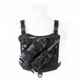 holster porte radio double dimatex full black