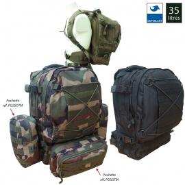 Pack sac à dos tactical avec 3 pochettes molle