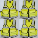 Gilet intervention jaune police nationale